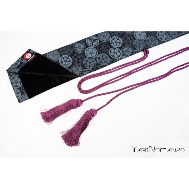 Katana Bukuro Kamon (Fondo Oscuro)   Bolsa para Katana e Nihonto